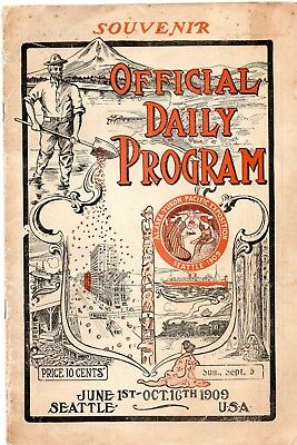 1909 Alaska-Yukon Pacific Expo Daily Program, Sun. Sept. 5