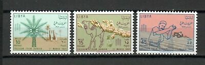 s16420) LIBYA LIBIA  MNH** Nuovi** 1963 Freedom from hunger 3v