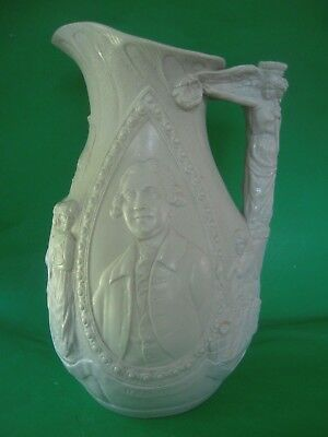 """Early 19C. Josiah Wedgwood Salt Glaze 11+"""" Pitcher Art Science Commerce Excell."""