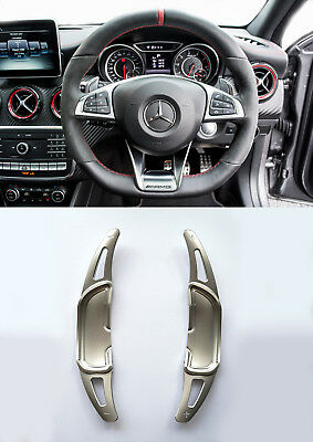 Pinalloy Silver Alloy Paddle Shifter Extension For Mercedes Benz AMG A45 CLA GLA