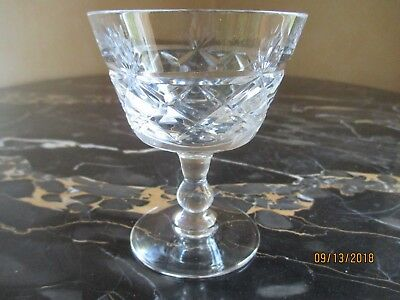 royal brierley bruce pattern champange glass height 4 inches
