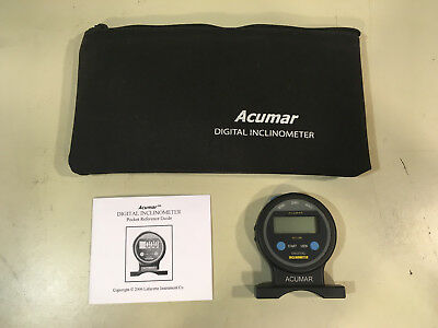 ACUMAR Digital Inclinometer  - with Case - Ships free from USA