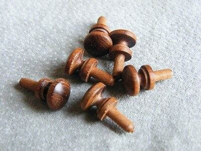 Small wooden knobs / Mahogany / 11.5mm DIA