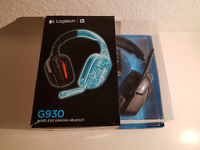 Logitech G930 Wireless USB Gaming Headset mit Ladestation und Stick