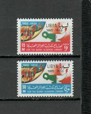 s16440) LIBYA LIBIA  MNH** Nuovi** 1965 Fire in university library Algiers 2v