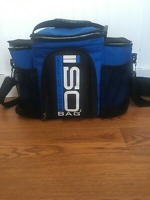 aaaeb169bfe Blue ISOLATOR FITNESS BAG with backpack attachment and two Ice bricks