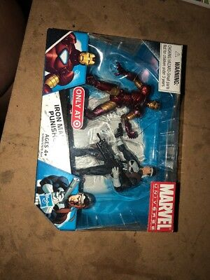 """Marvel Universe Iron Man vs. Punisher 3.75"""" Target Exclusive New in Package!"""