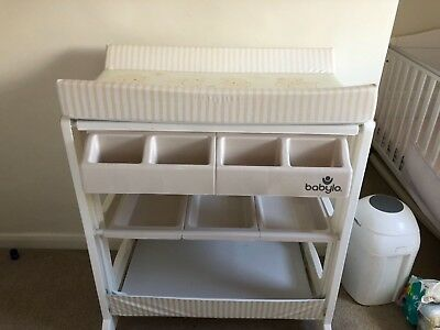 Used Babylo baby changing unit with bath