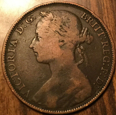 1883 UK GB GREAT BRITAIN VICTORIA ONE PENNY - With some details