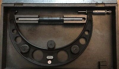 """Moore and Wright 9""""-10"""" Inch no.974 Micrometer"""