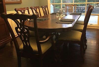 9-Piece Mahogany Chippendale Style Dining Set