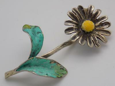 Vintage Solid Silver Italian Made Daisy Miniature, Figurine, Stamped*