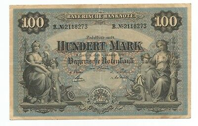 Germany Kingdom of Bavaria 1900 100 mark P-S922 (B166)