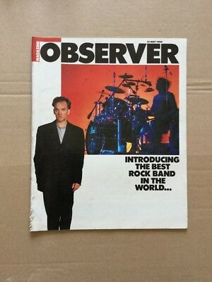 R.E.M. Cover And Article In Observer Magazine 1989