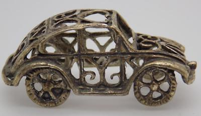 Vintage Solid Silver Italian Made Love Car Miniature, Figurine, Stamped*