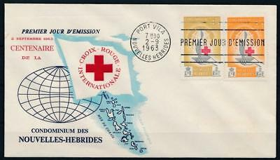[G61965] New Hebrides 1963 Red Cross good Very Fine First day cover