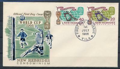 [G61969] New Hebrides 1966 Football Soccer good Very Fine First day cover