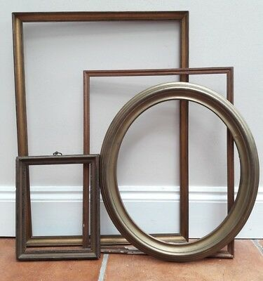Old antique Vintage Wooden picture frames x 4