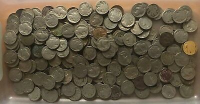 200 (5 rolls) Buffalo/Indian Head Nickels - No/Part Dates - No Reserve