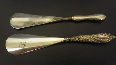 2 Hallmarked Silver Handled Shoe Horns