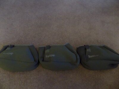 3 X Trakker Fishing Luggage Reel Protector Pouch padded carp fishing set