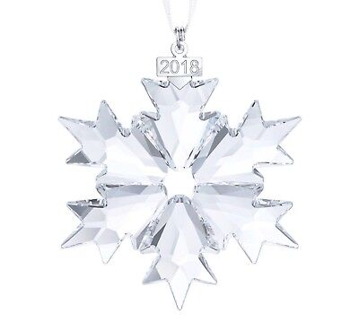 Swarovski Crystal 2018 ANNUAL EDITION LARGE CHRISTMAS ORNAMENT 5301575 NEW