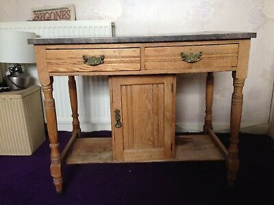Original Victorian Marble Top Wash Stand