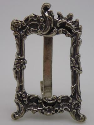 Vintage Solid Silver Italian Made Frame Miniature, Figurine, Stamped