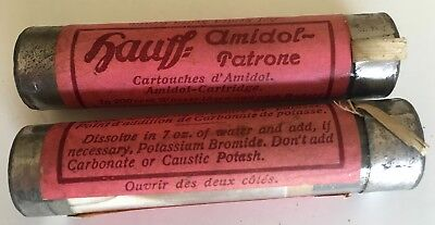 Hauff Amidol - Patrone vintage photographic processing powder