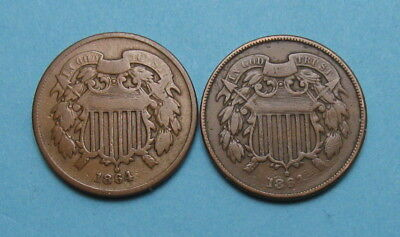 1864 Two Cent Piece ✪ Listing is For Both Coins ✪ AB0916