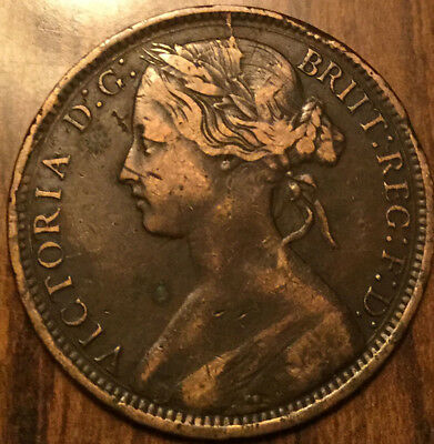 1872 UK GB GREAT BRITAIN VICTORIA ONE PENNY - A nicer one!
