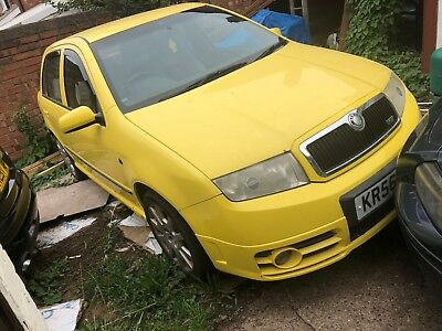 2007 Skoda  Fabia Vrs Tdi Yellow Spares Or Repairs No Mot Clutch Slips On Boost