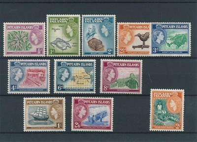 [121948] Pitcairn Is. 1957 good set of stamps very fine MNH $85