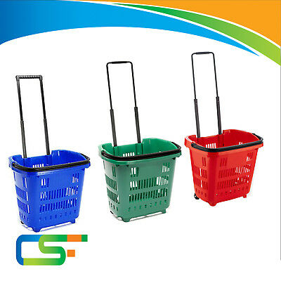 Plastic Shopping Trolley Basket Supermarket Retail Store Shop