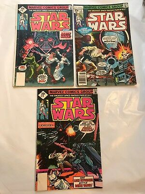 Star Wars #4-6  Darth Vader  Han Solo  All First Print  Lower Grade  NO RESERVE