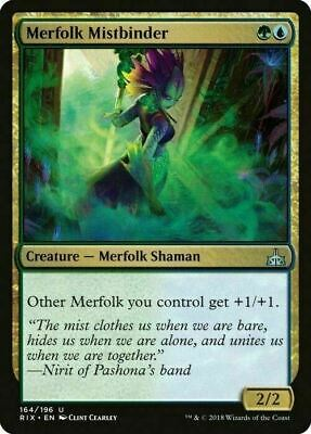 4 x Merfolk Mistbinder (1 x PLAYSET) ~ Rivals of Ixalan ~ MINT/NearMint ~ MTG