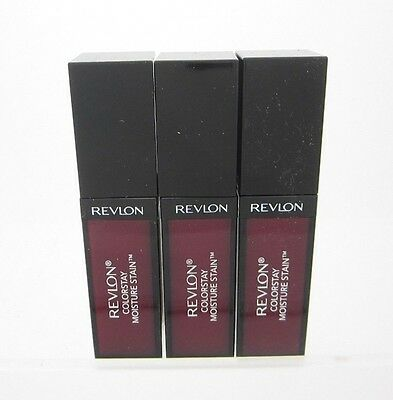Revlon Lip Stain Wine Red ColorStay #005 Parisian Passion Lot of 3 Sealed Vitm E