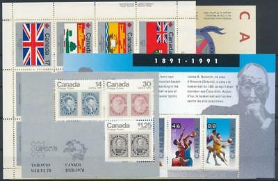 [G126508] Canada good lot of 5 sheets very fine MNH