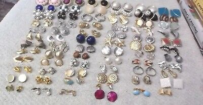 Vintage To Now Lot Of 70 Pairs Of Clip-On Earrings
