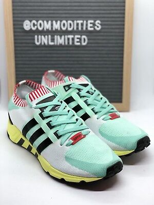 100% authentic 122b2 53913 ADIDAS EQT SUPPORT RF PK (BA7506) Men's 👟 Size 9.5 Frozen Green / Multi  Color