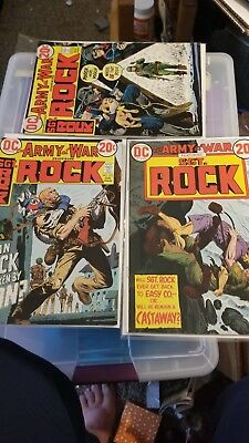 1973 Our Army at War #'s 257,253 & 255 Sgt Rock Comic Book Lot of 3 DC