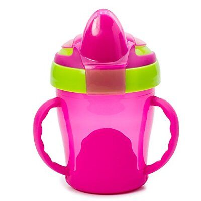 Vital Baby Soft Spout Trainer Cup 200ml - Pink & Green - 6 months+ - BRAND NEW