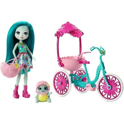Enchantimals Built for Two Doll Playset, Turtle Tricycle toy barbie for kids