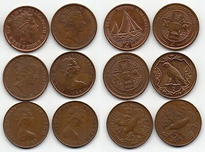 Isle Of Man British Dependency 2000 1991 1990 1984 1981 And 1980 2 Pence