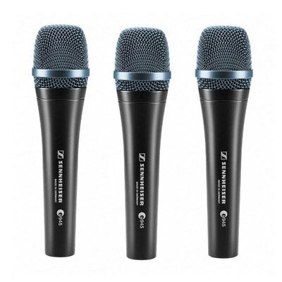Sennheiser e945 Supercardioid Dynamic Handheld Vocal Microphone Kit 3 Pack NEW