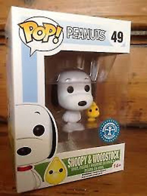 Funko Pop #49 Snoopy & Woodstock (Flocked Variant) 2016 ECCC Shared Exclusive