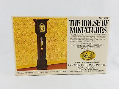 The House Of Miniatures William Mary Tall Case Clock Grandfather Circa 1700 NEW