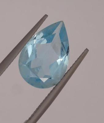 *5.60Ct Loose Natural Pear Cut Blue Topaz Gemstone*