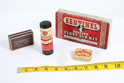 Vintage Medical Advertising Lot 1930S First Aid Kit St. Mary's Aspirin