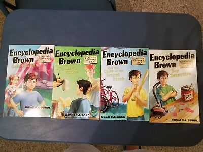 Encyclopedia Brown (Lot of 4 Books)